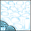 Vector clipart: Set of fifteen colorful speech and thought bubbles