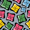 Vector clipart: Colorful decorative seamless - pattern
