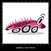 Vector clipart: Pink cartoon funny car