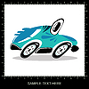 Vector clipart: Blue funny cartoon car