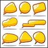 Vector clipart: Yellow Speech And Thought Bubbles