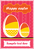 Vector clipart: Easter eggs postcard