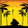 Vector clipart: Tropical resort