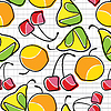 Vector clipart: colorful fruit seamless pattern