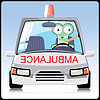 Vector clipart: Monster in the ambulance