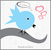 Vector clipart: bird sitting on branch