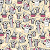 Vector clipart: Funny cartoon school objects - seamless pattern