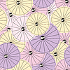 Vector clipart: Colorful Cocktail umbrellas - seamless pattern