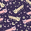 Vector clipart: Seamless pattern with cats