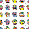 Vector clipart: seamless background of monsters