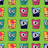 Vector clipart: monster seamless background