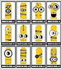 Vector clipart: Set of twelve monsters