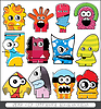 Set of monsters | Stock Vector Graphics