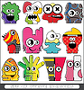 Vector clipart: set of monsters