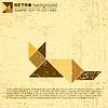 Tangram cat | Stock Vector Graphics