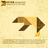 Vector clipart: tangram bird