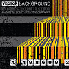 Vector clipart: Grunge barcode background