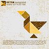 Векторный клипарт: Tangram птицы