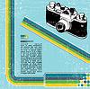 Векторный клипарт: ретро-фотокамера
