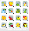 Vector clipart: Set of fruits and legumes