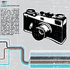 Векторный клипарт: Grunge ретро камеры