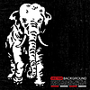 Vector clipart: Retro elephant - grunge background