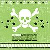 skull grunge design