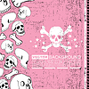 Vector clipart: abstract skull grunge background design