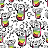 Vector clipart: funny eraser - seamless pattern