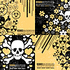 Set of four abstract skull grunge backgrounds design