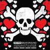 Vector clipart: skull grunge background