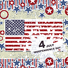 Vector clipart: Independence Day- 4 of July