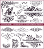 Vector clipart: calligraphic design elements and decorations