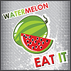 Vector clipart: watermelon and slice