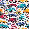 Fantastic cars - seamless pattern