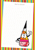Vector clipart: Cartoon colorful pencil on white paper