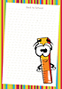 Vector clipart: Funny cartoon ruler on white paper