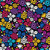 Vector clipart: Colorful floral - seamless pattern