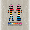 Vector clipart: Colorful Couple of men and women