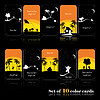 Vector clipart: Set of ten color cards