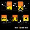 Set of ten color cards
