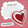 Card with heart and message cloud