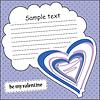 Векторный клипарт: Карточка с сердцем и сообщение облако