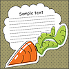 Vector clipart: Card with carrot