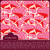 Vector clipart: Heart Valentines Day background