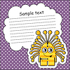 Vector clipart: Cartoon monster with message cloud