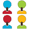 Vector clipart: Set of four colorful mans