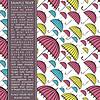Vector clipart: Card with umbrellas