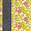 Векторный клипарт: Карточка с фруктами