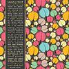 Векторный клипарт: Карточка с красочными листьями